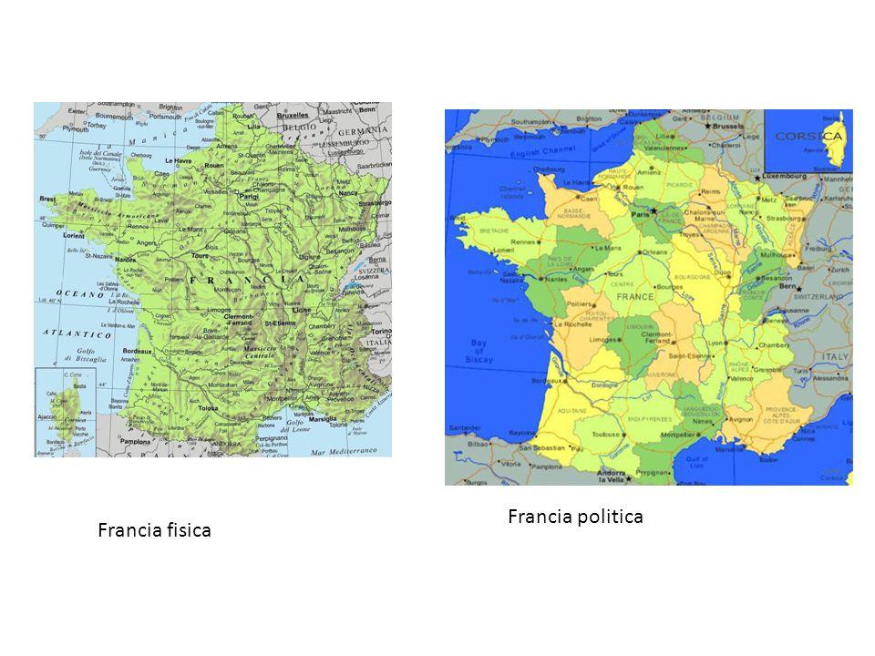 Francia politica Francia fisica