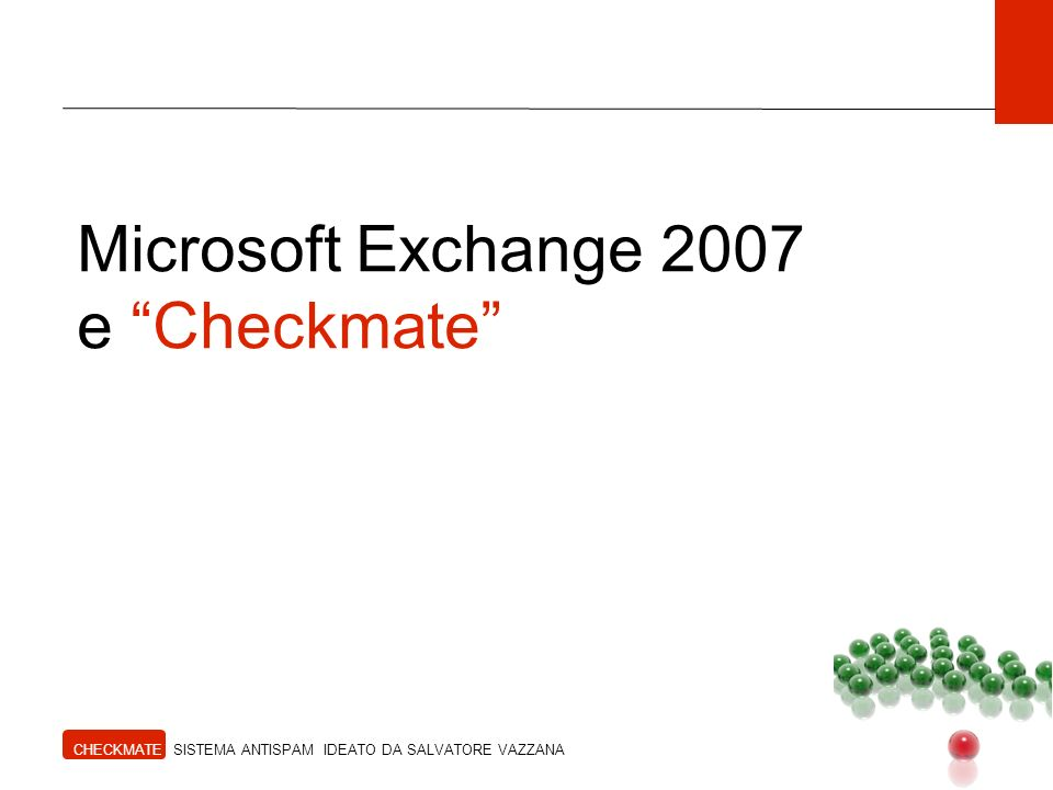Microsoft Exchange 2007 e Checkmate