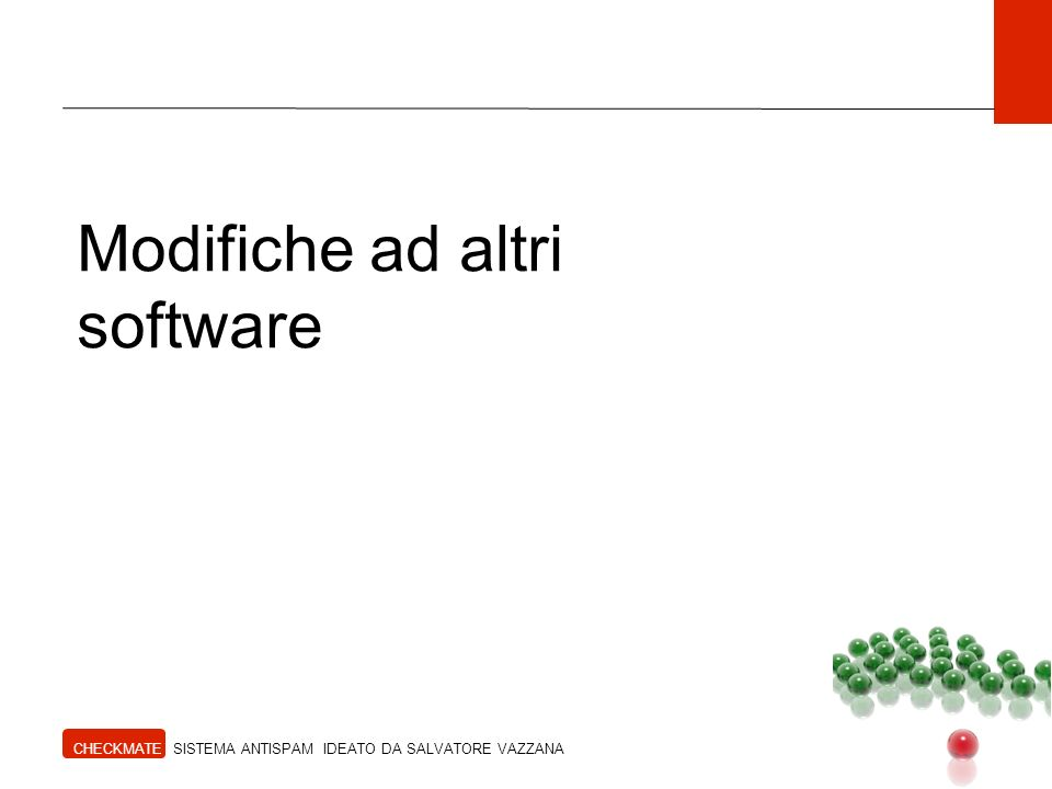 Modifiche ad altri software
