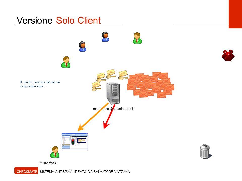Versione Solo Client Il client li scarica dal server così come sono…