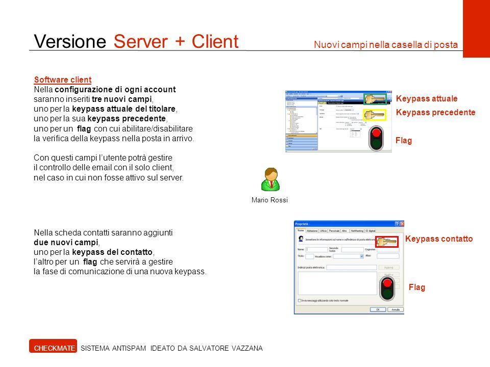 Versione Server + Client Nuovi campi nella casella di posta
