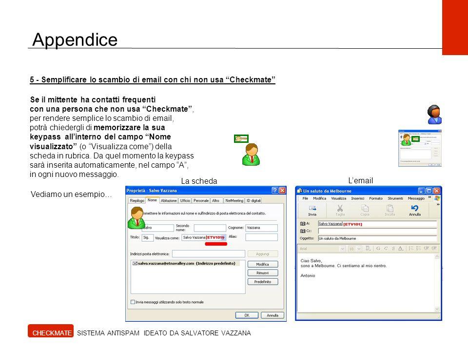 Appendice 5 - Semplificare lo scambio di email con chi non usa Checkmate