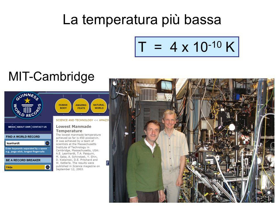 La temperatura più bassa