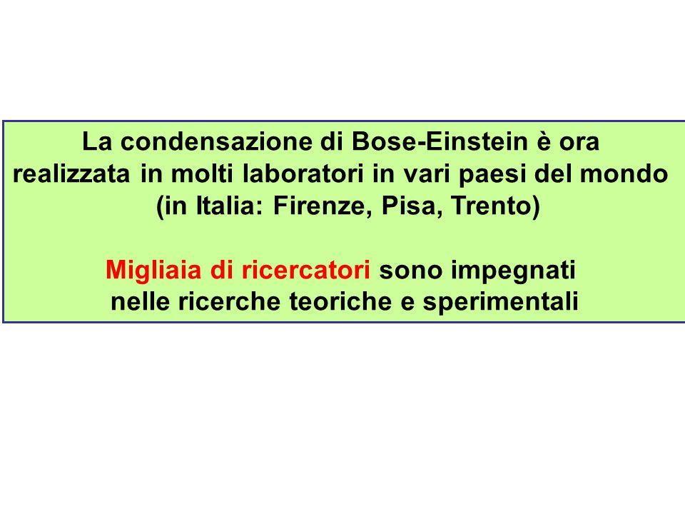 La condensazione di Bose-Einstein è ora