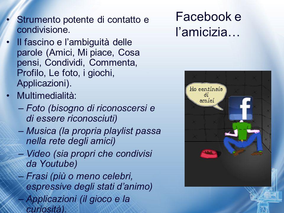 Facebook e l'amicizia…