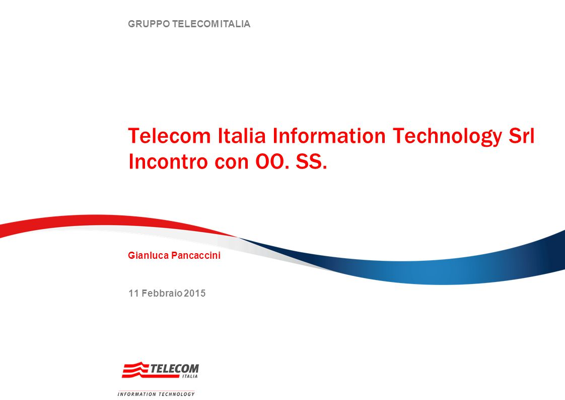 Telecom Italia Information Technology Srl Incontro con OO. SS.