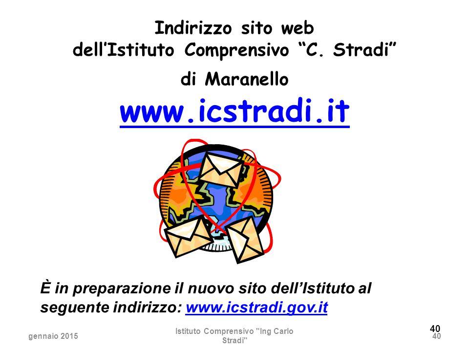 www.icstradi.it Indirizzo sito web