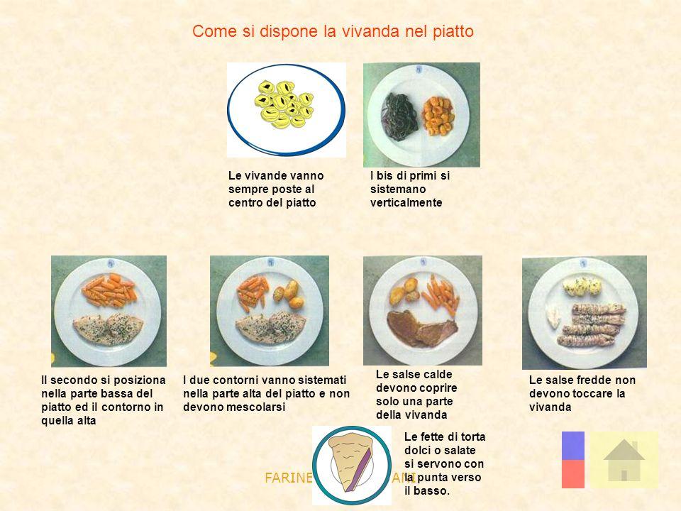 Come si dispone la vivanda nel piatto