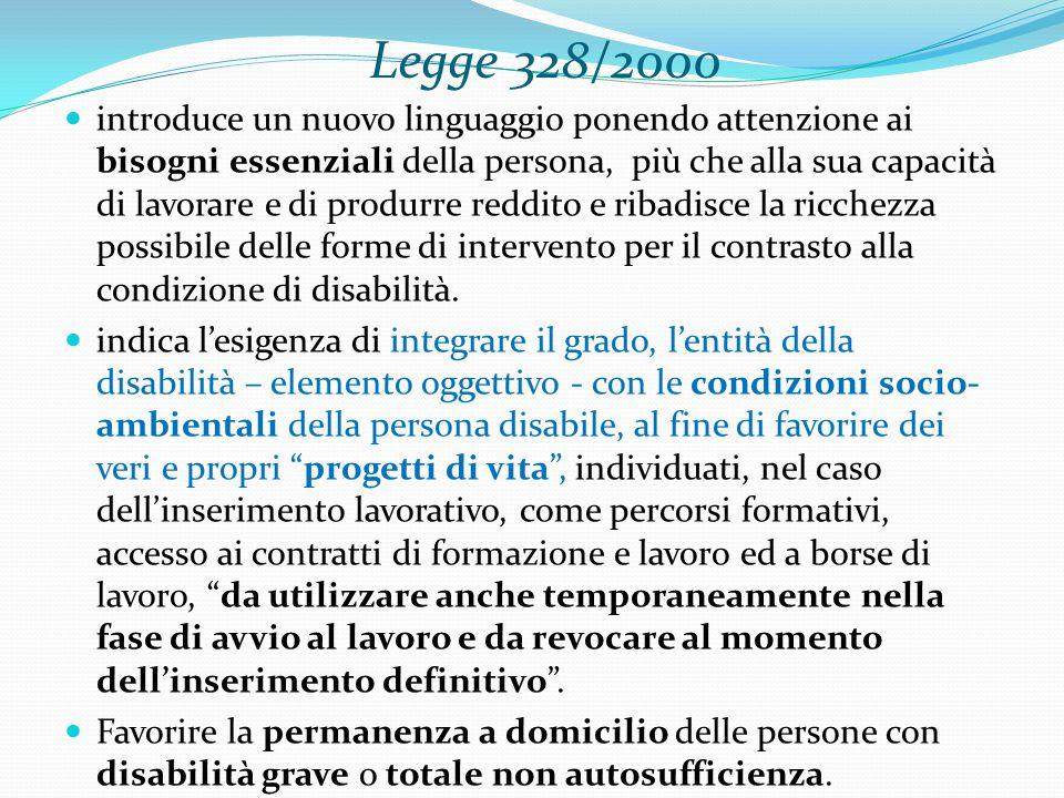 Legge 328/2000