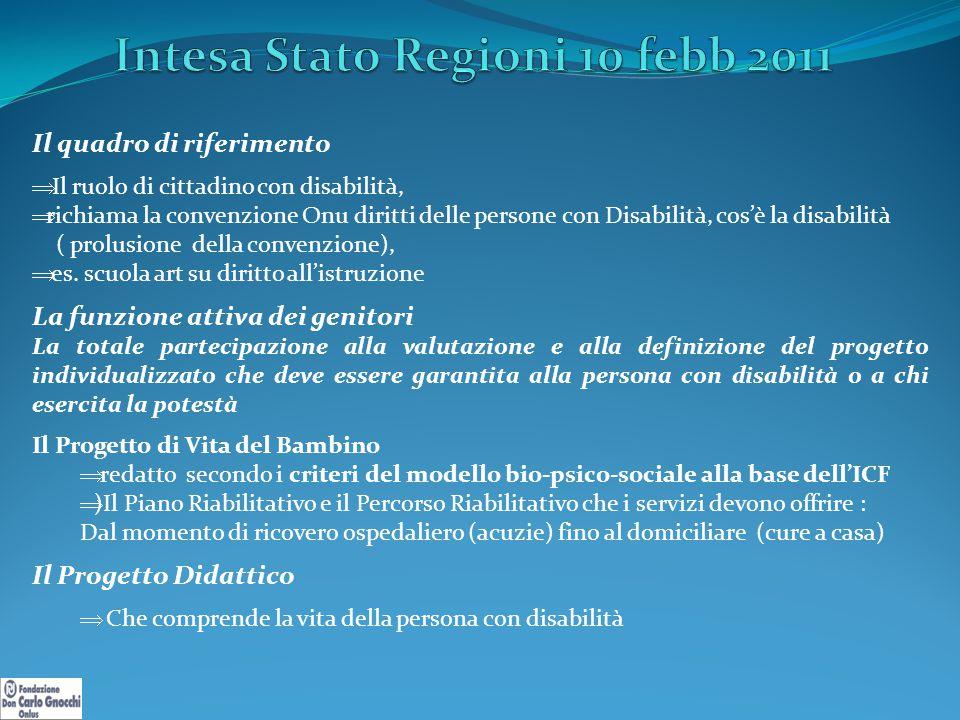 Intesa Stato Regioni 10 febb 2011