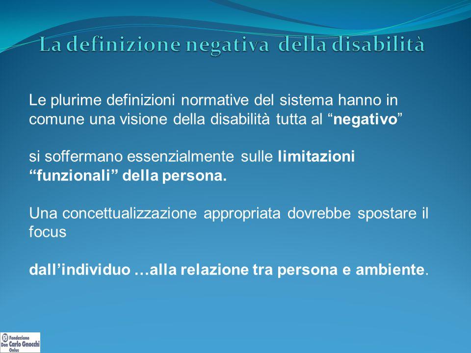 La definizione negativa della disabilità