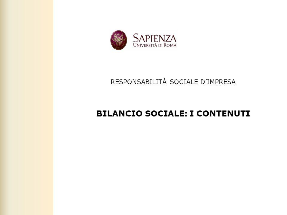 BILANCIO SOCIALE: I CONTENUTI