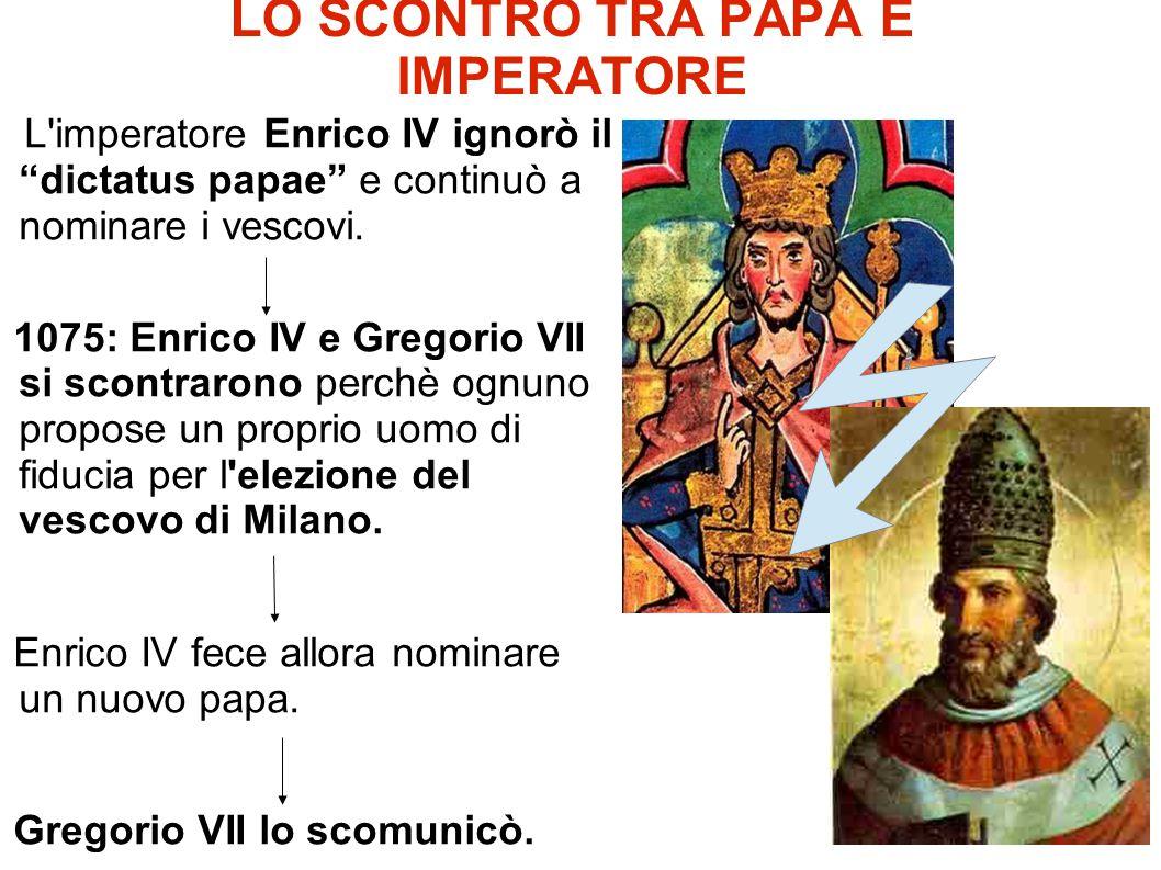 LO SCONTRO TRA PAPA E IMPERATORE