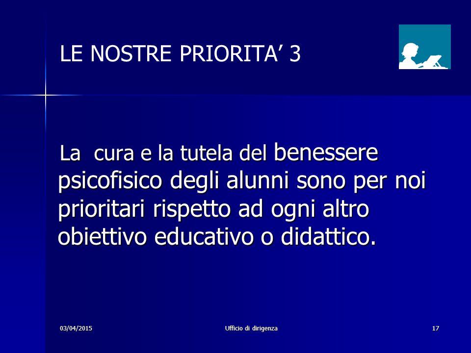 LE NOSTRE PRIORITA' 3