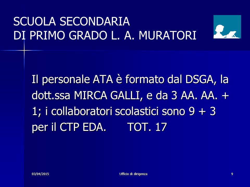 SCUOLA SECONDARIA DI PRIMO GRADO L. A. MURATORI