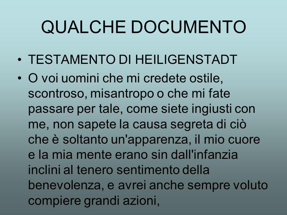 QUALCHE DOCUMENTO TESTAMENTO DI HEILIGENSTADT