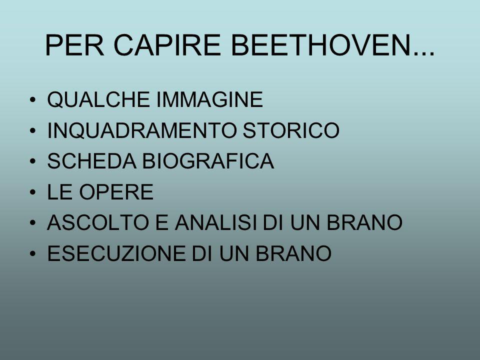 PER CAPIRE BEETHOVEN... QUALCHE IMMAGINE INQUADRAMENTO STORICO