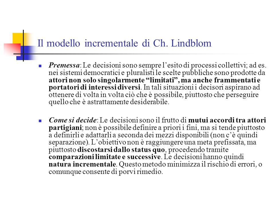 Il modello incrementale di Ch. Lindblom