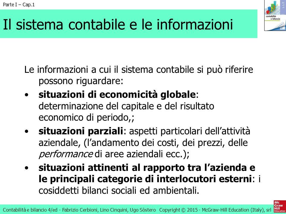 Il sistema contabile e le informazioni