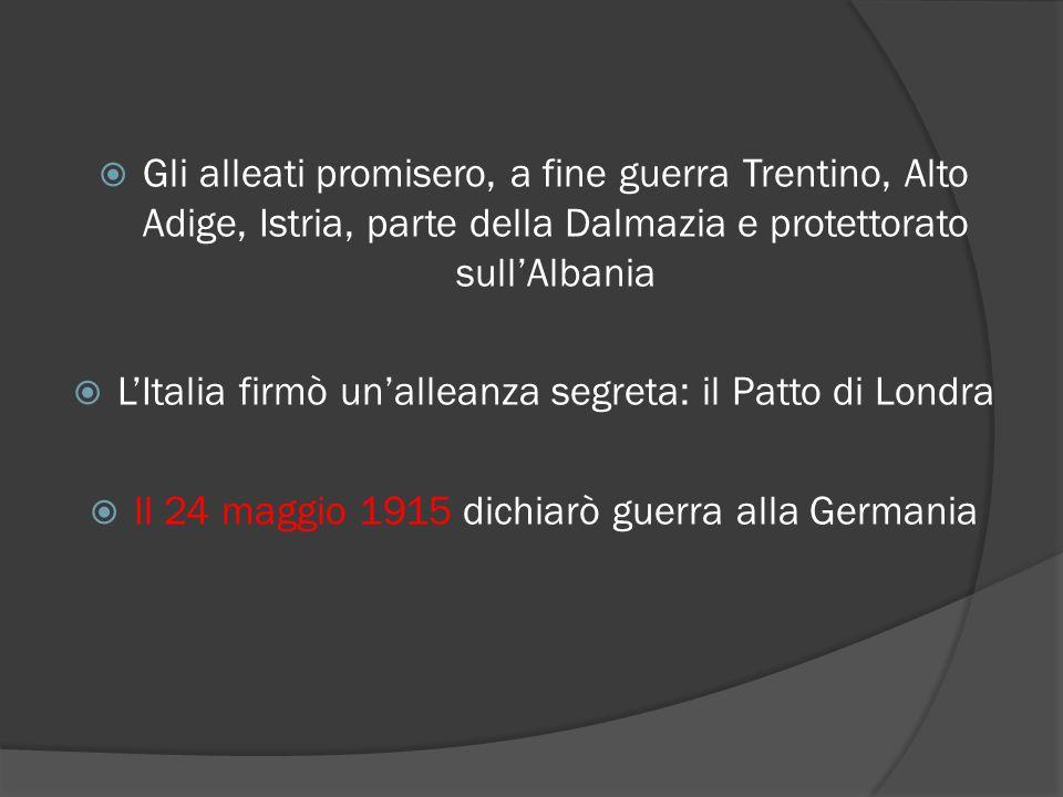 L'Italia firmò un'alleanza segreta: il Patto di Londra