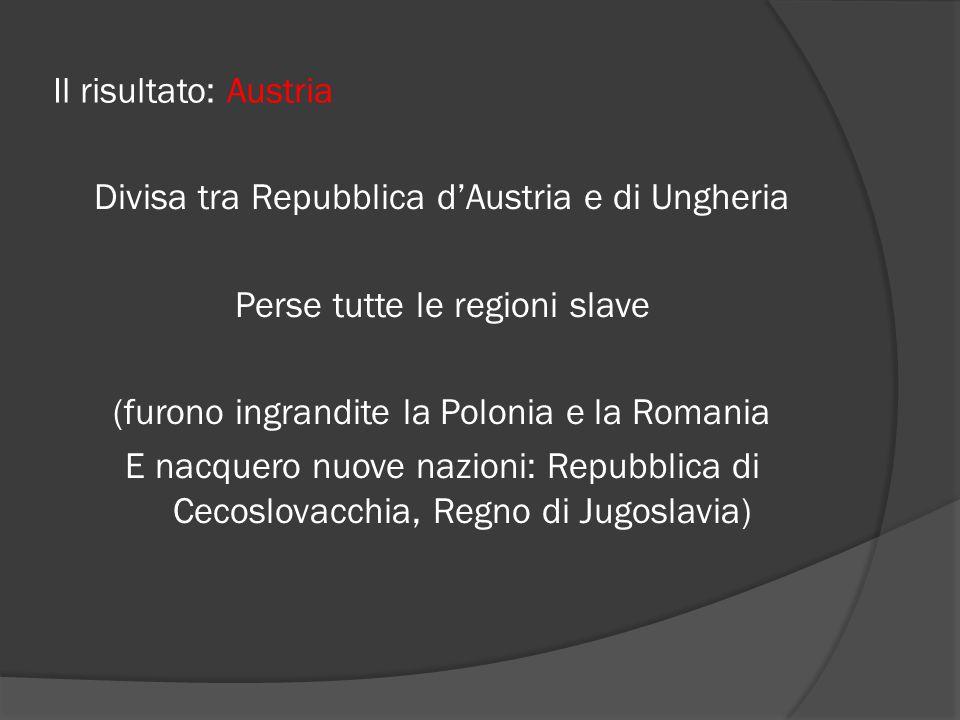 Il risultato: Austria