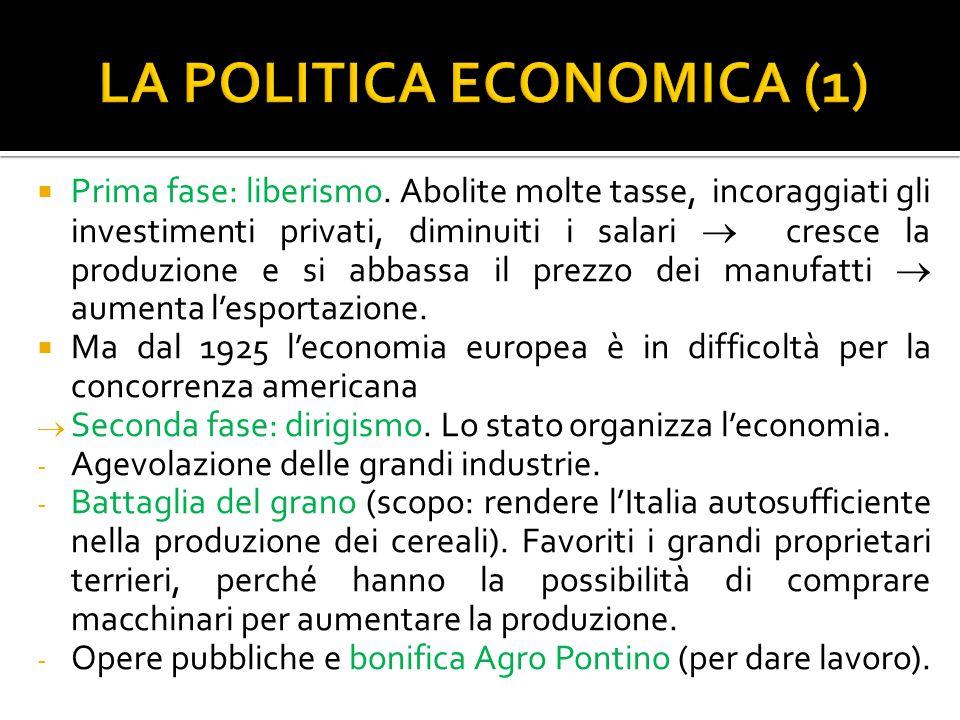 LA POLITICA ECONOMICA (1)