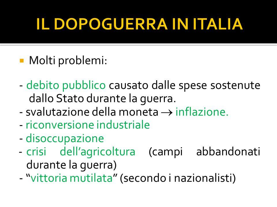 IL DOPOGUERRA IN ITALIA