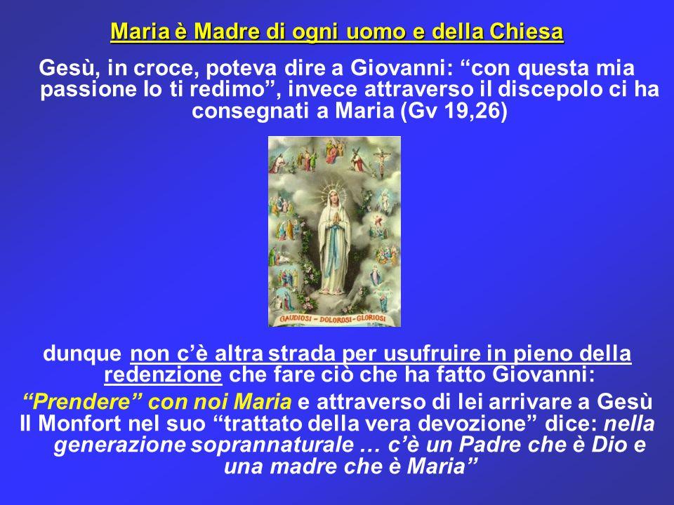 Maria è Madre di ogni uomo e della Chiesa