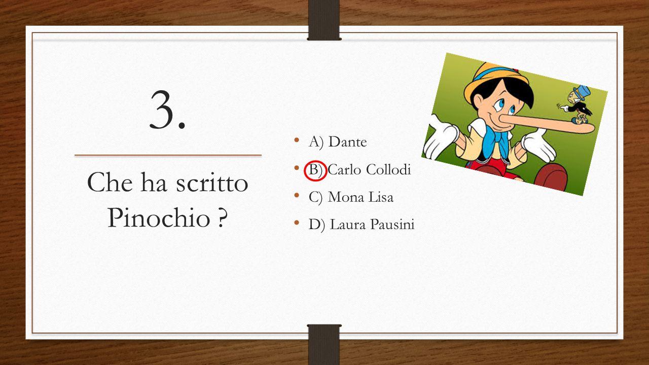 Che ha scritto Pinochio
