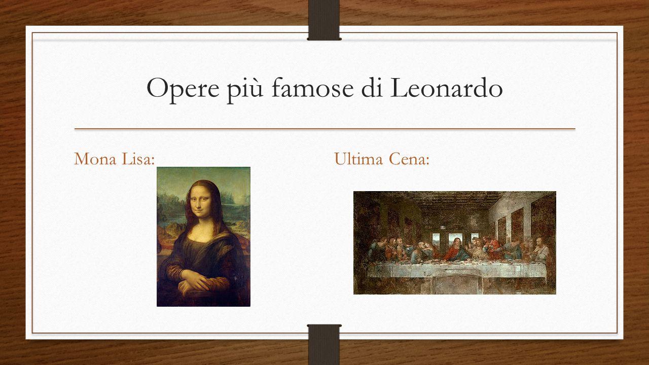 Opere più famose di Leonardo