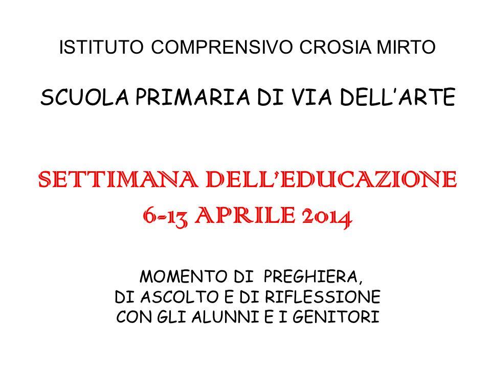 SETTIMANA DELL'EDUCAZIONE 6-13 APRILE 2014
