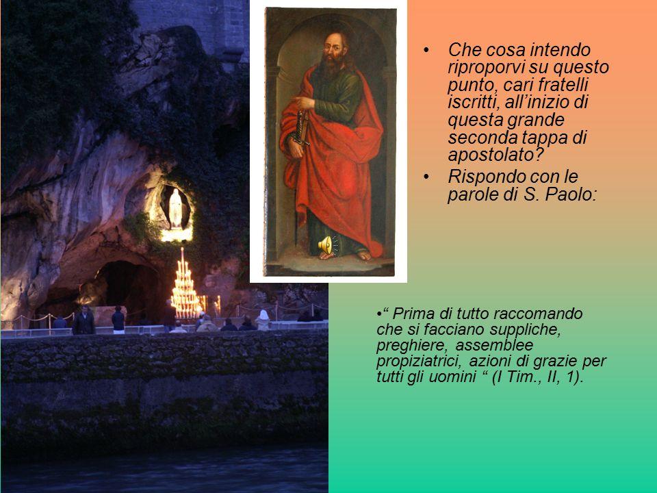 Rispondo con le parole di S. Paolo: