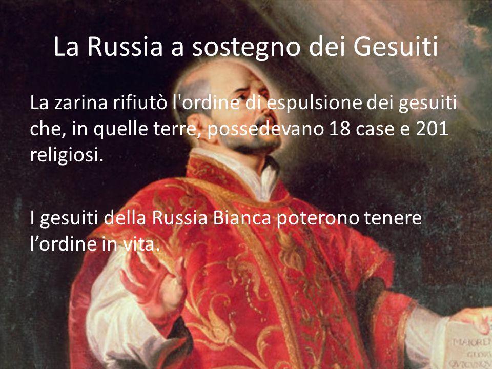La Russia a sostegno dei Gesuiti