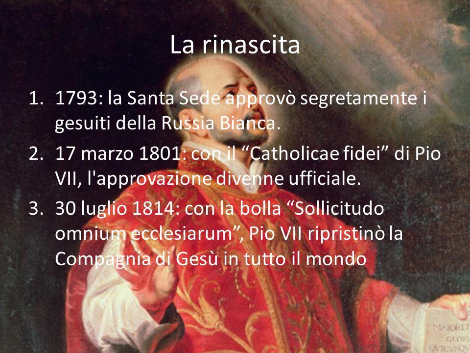 La rinascita 1793: la Santa Sede approvò segretamente i gesuiti della Russia Bianca.