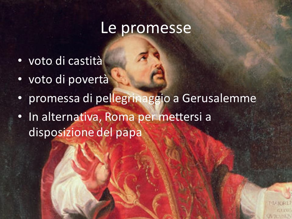 Le promesse voto di castità voto di povertà