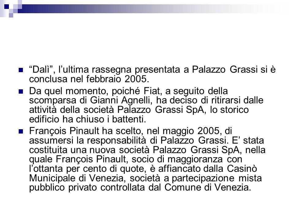 Dalì , l'ultima rassegna presentata a Palazzo Grassi si è conclusa nel febbraio 2005.