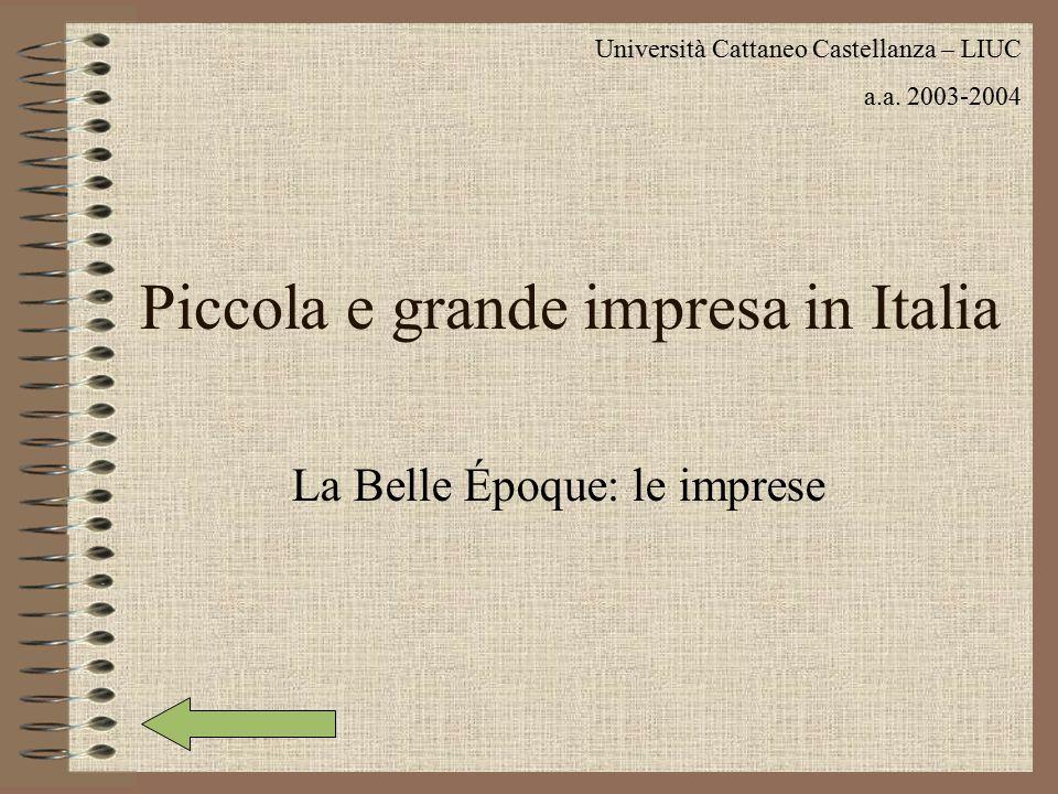 Piccola e grande impresa in Italia