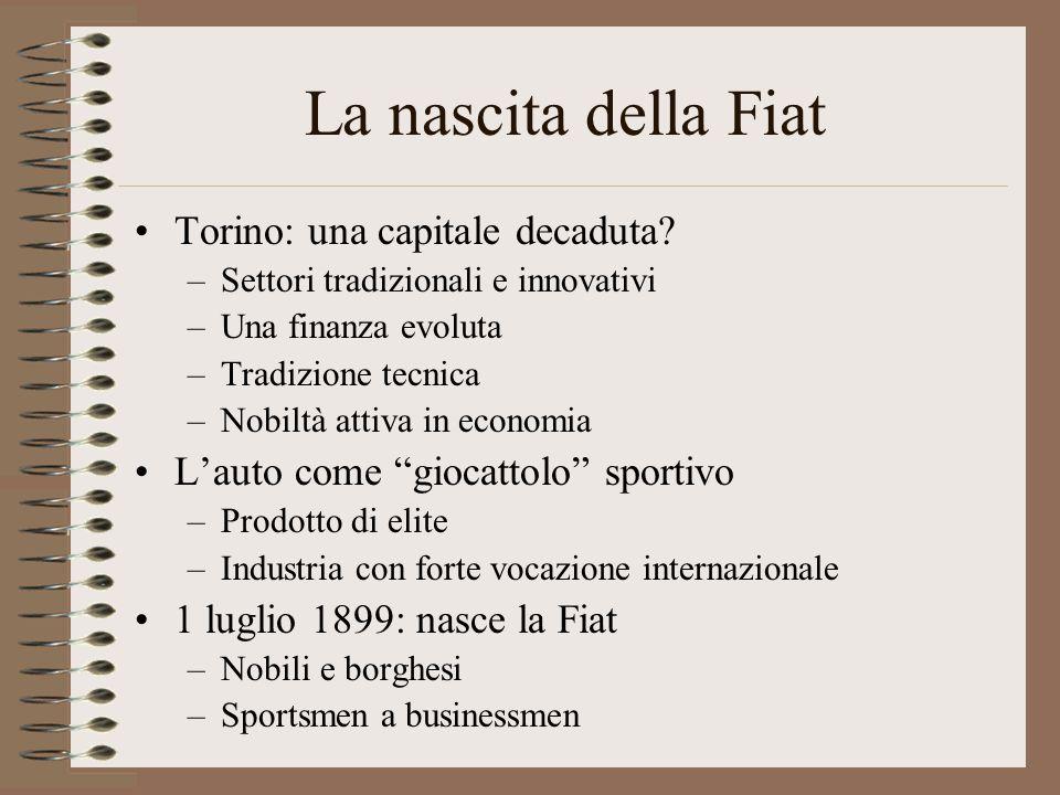 La nascita della Fiat Torino: una capitale decaduta