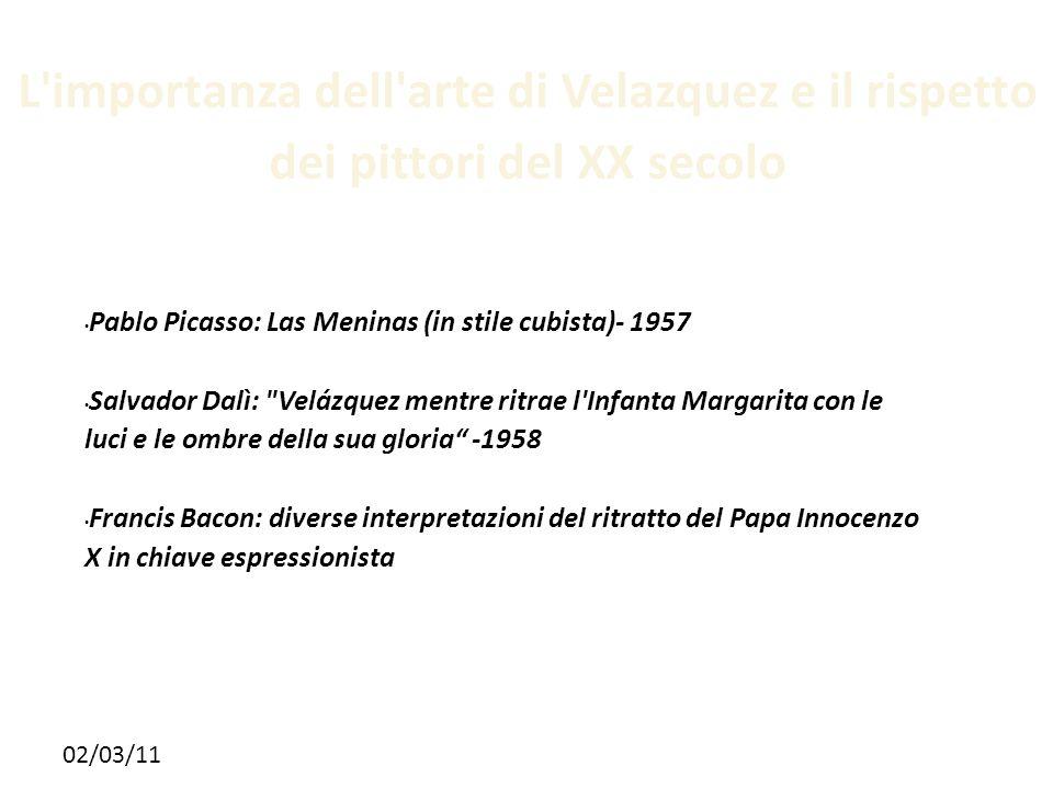 L importanza dell arte di Velazquez e il rispetto