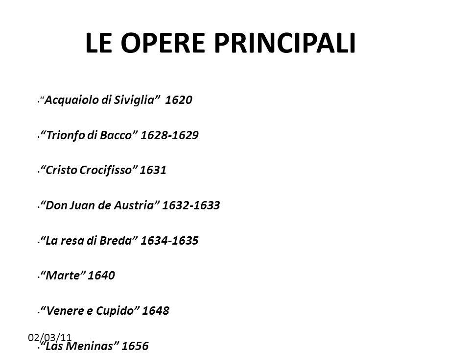 LE OPERE PRINCIPALI Trionfo di Bacco 1628-1629