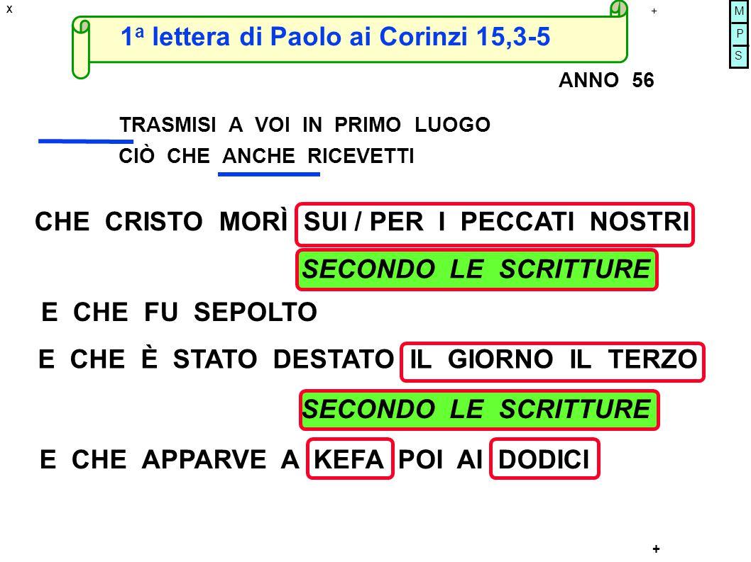 1a lettera di Paolo ai Corinzi 15,3-5