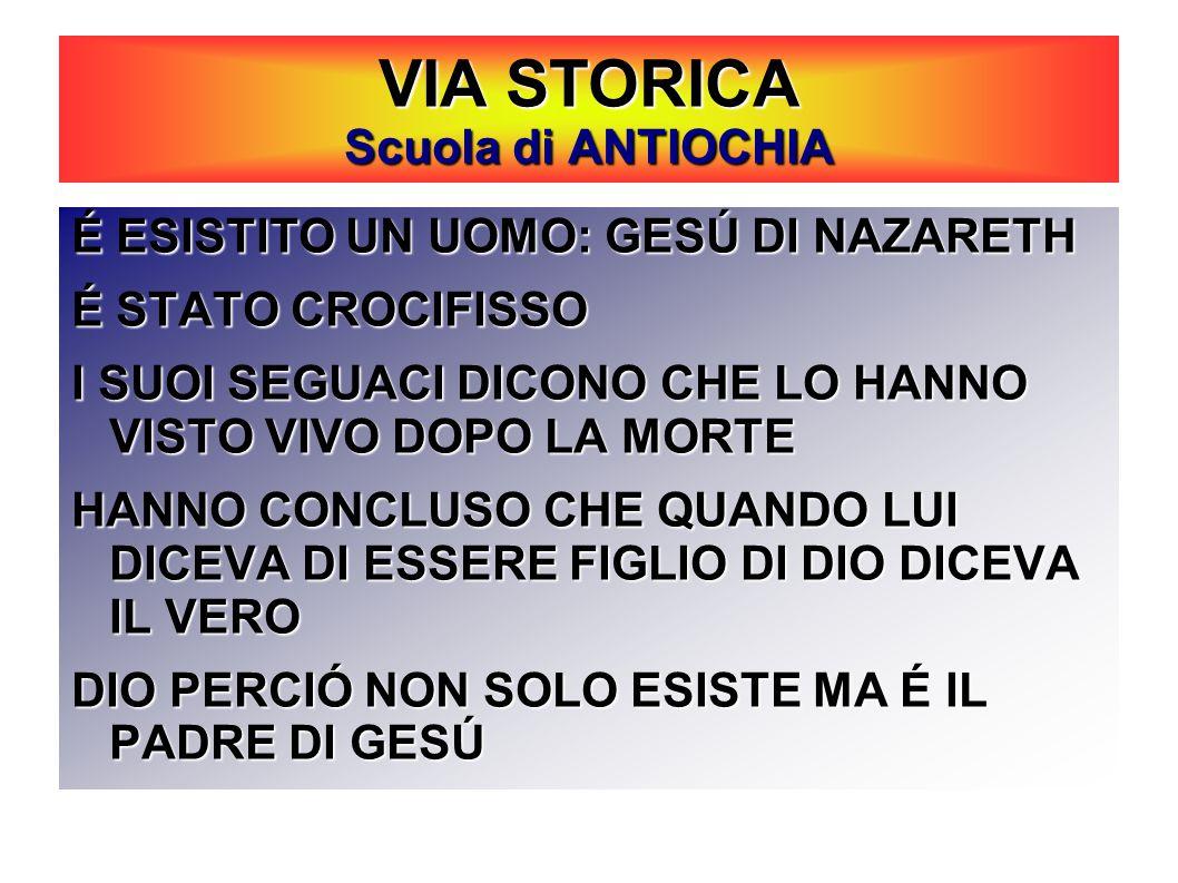 VIA STORICA Scuola di ANTIOCHIA