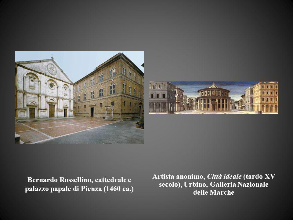 Bernardo Rossellino, cattedrale e palazzo papale di Pienza (1460 ca.)