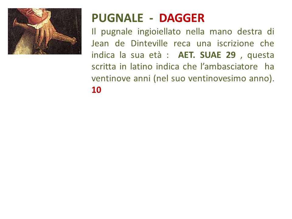 PUGNALE - DAGGER