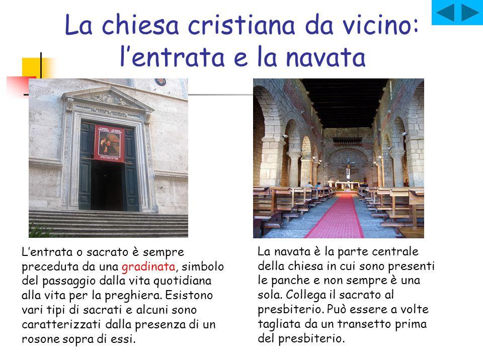 La chiesa cristiana da vicino: l'entrata e la navata