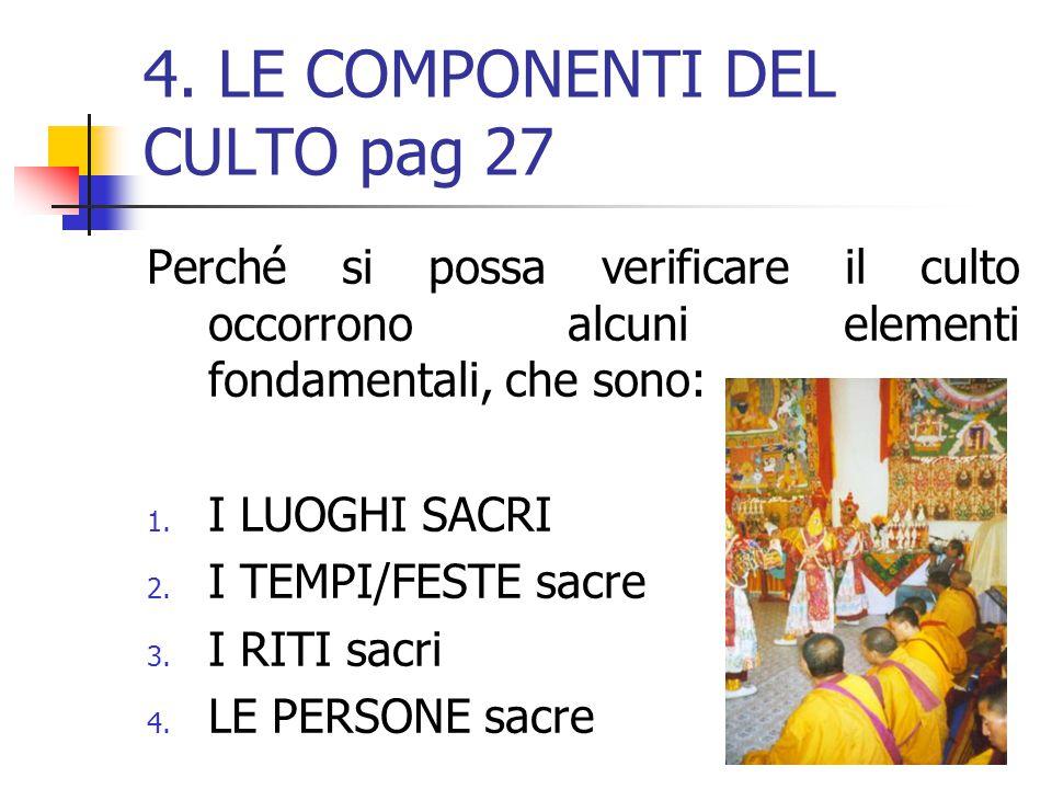 4. LE COMPONENTI DEL CULTO pag 27