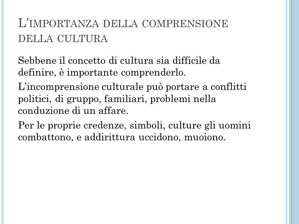 L'importanza della comprensione della cultura