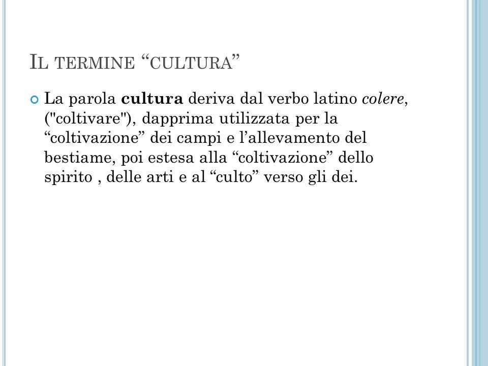 Il termine cultura