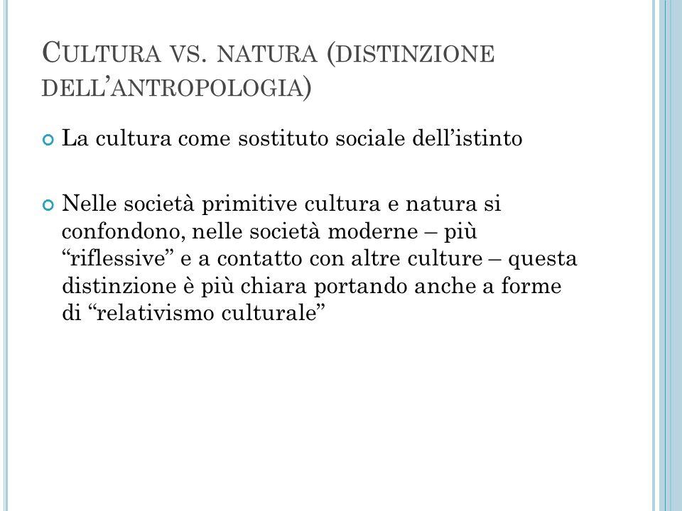Cultura vs. natura (distinzione dell'antropologia)