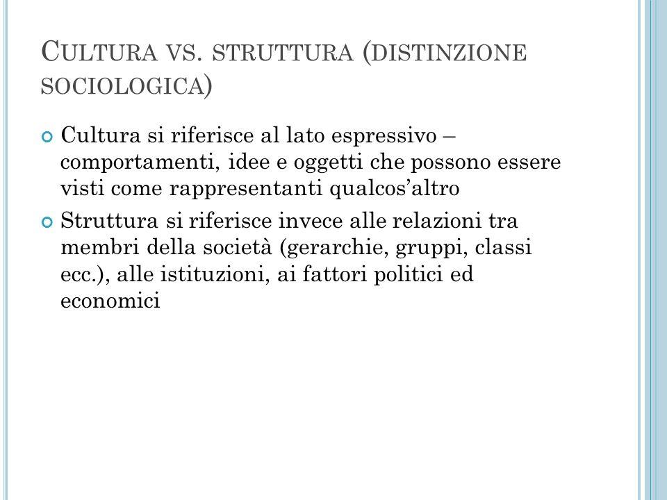Cultura vs. struttura (distinzione sociologica)
